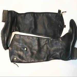 ** Sam Edelman ** tall black leather PENNY boots